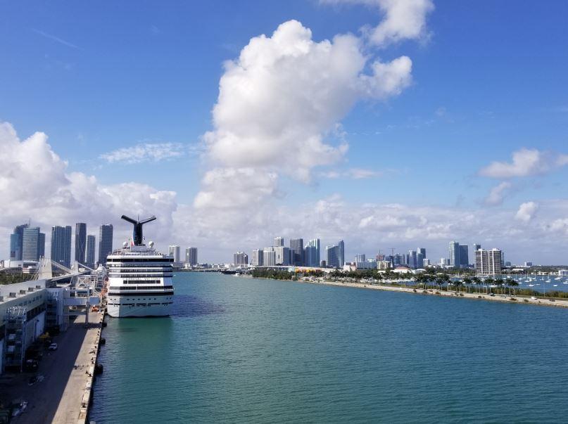 cruise ship miami skyline