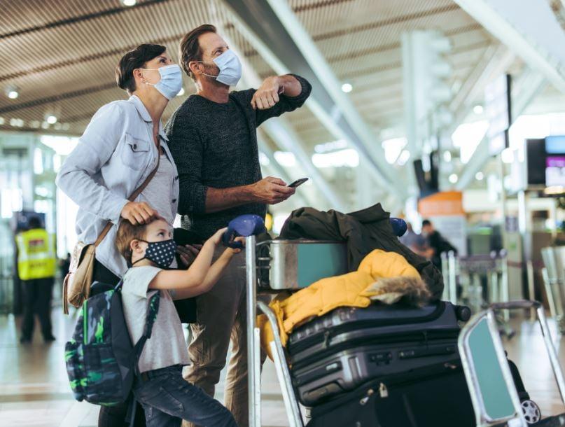 travelers luggage family