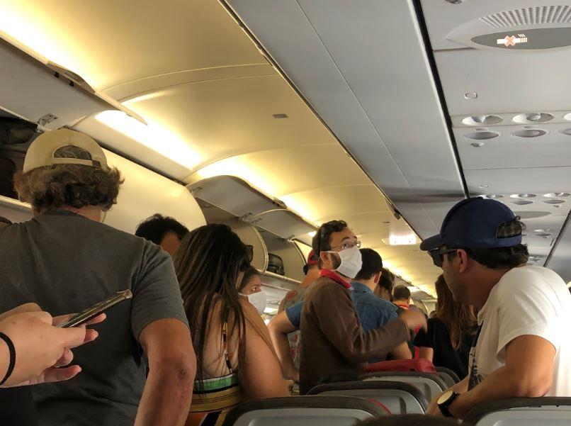 passengers flight mask