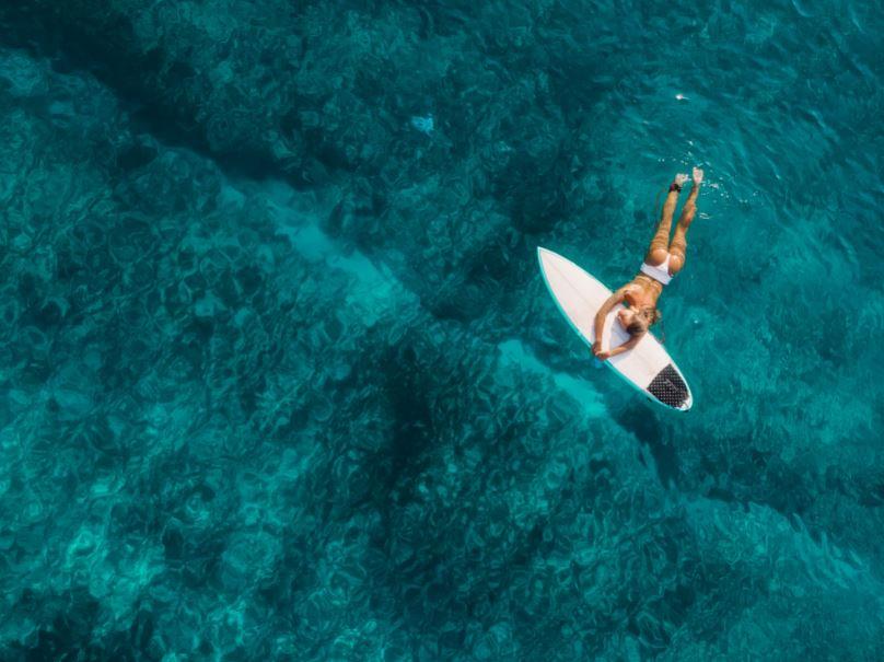 surfer surf board hawaii