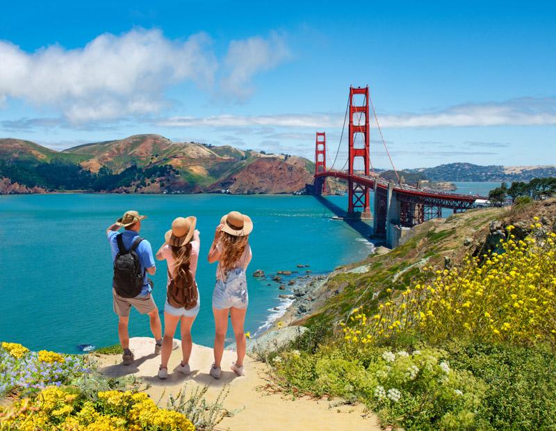 tourists San Francisco, California, USA