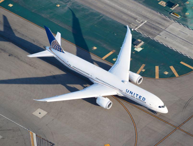 united airplane aerial view
