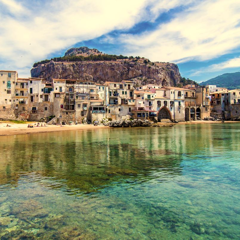 Cefalu town and beach