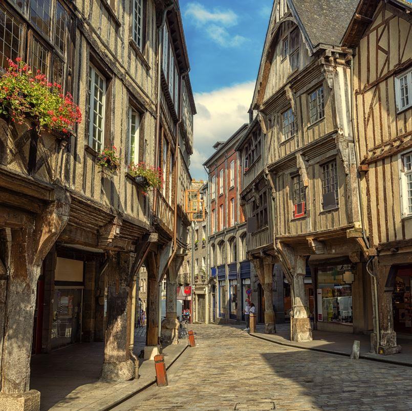 Dinan historic street