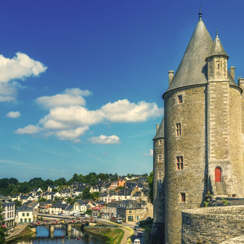 Josselin, Brittany and chateau