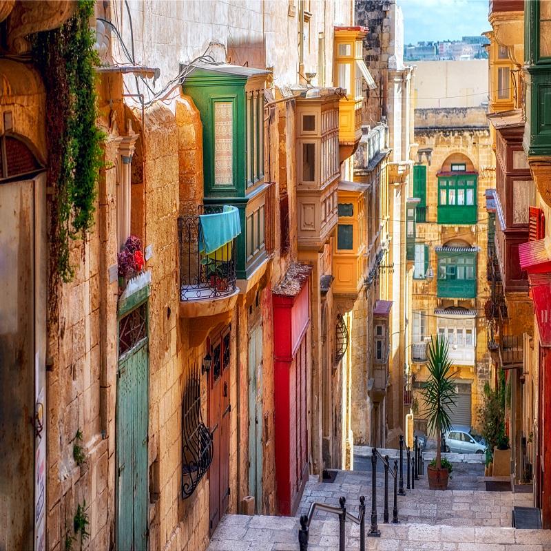 Street of Valletta town