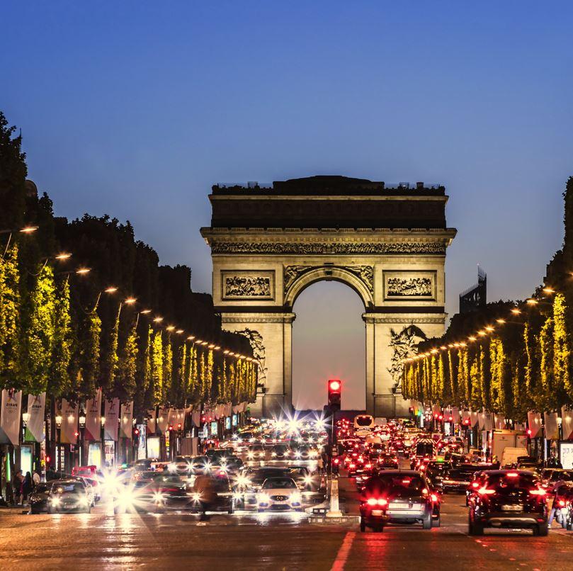 Arc de Triomphe, Paris at night