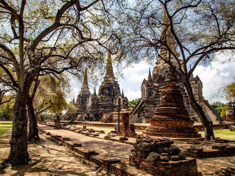 ayutthaya temple wat thailand