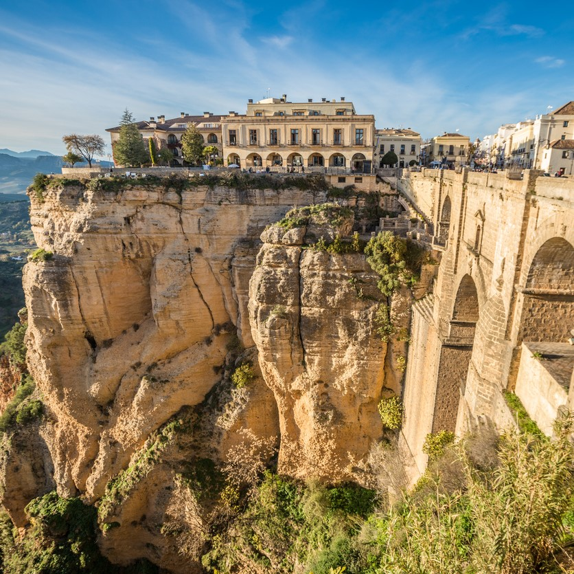 cliff in Ronda, Spain