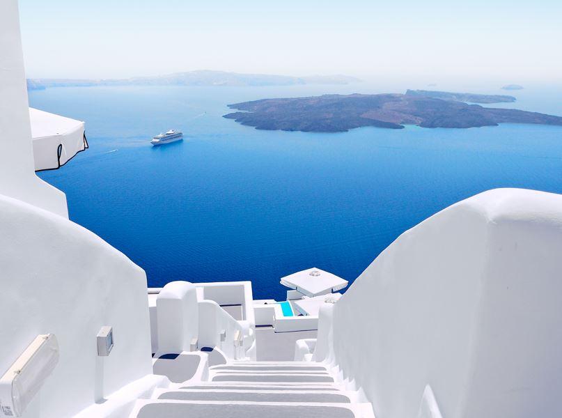 greece island white blue
