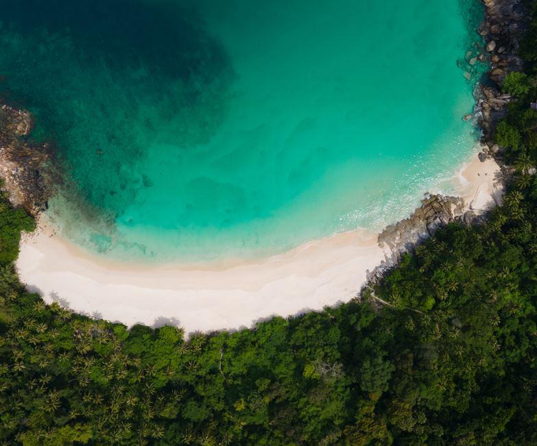 phuket beach aerial