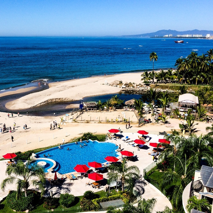 Puerto Vallarta Mexico Coastline and Beach Resorts