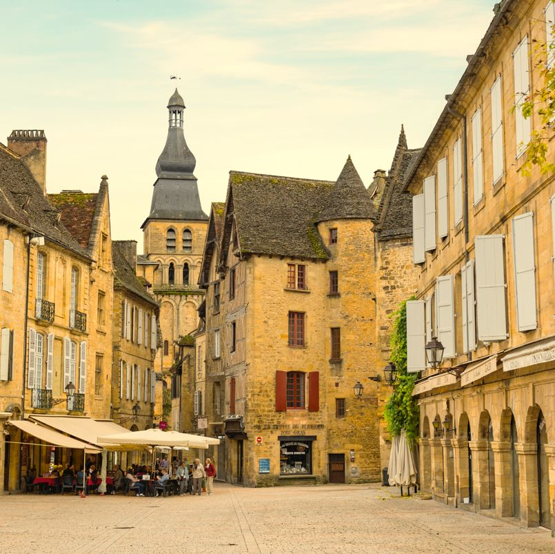 Sarlat France town streets and square