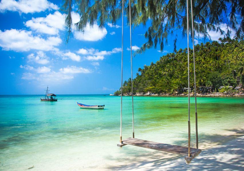 swing samui beach thailand