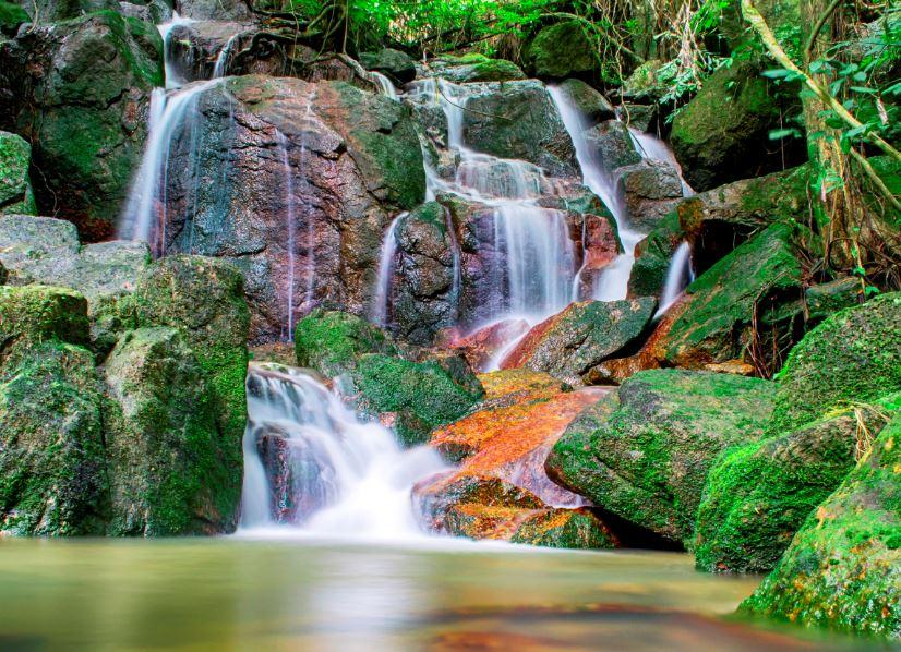 waterfall samui thailand