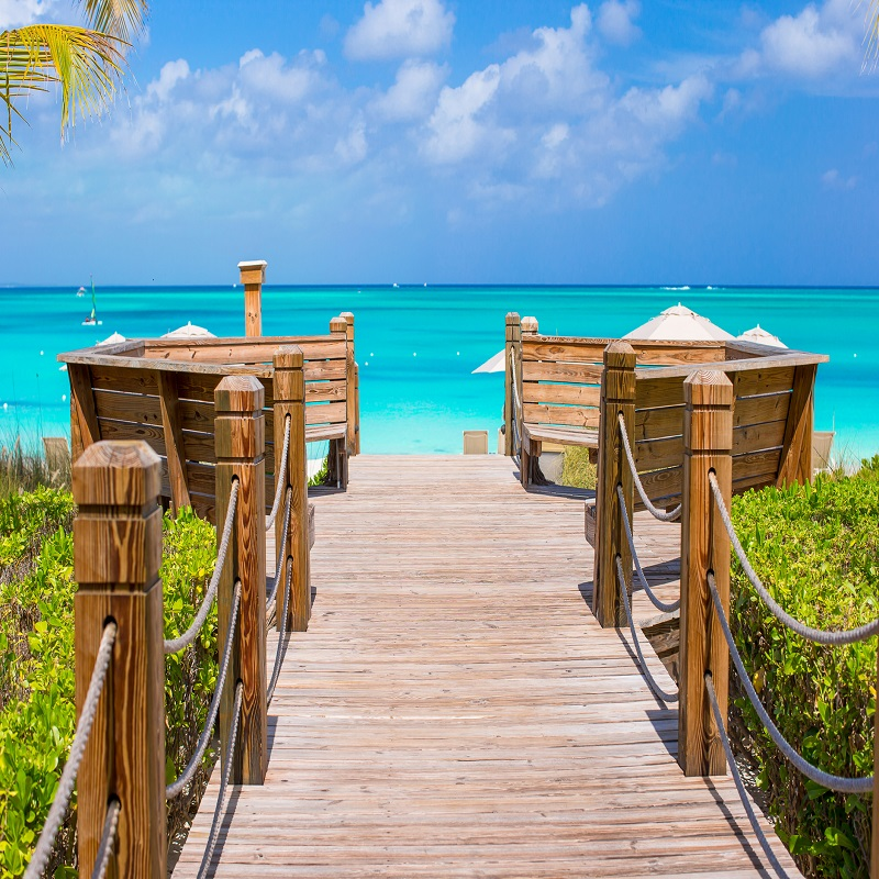 Beautiful tropical landscape on Providenciales Island