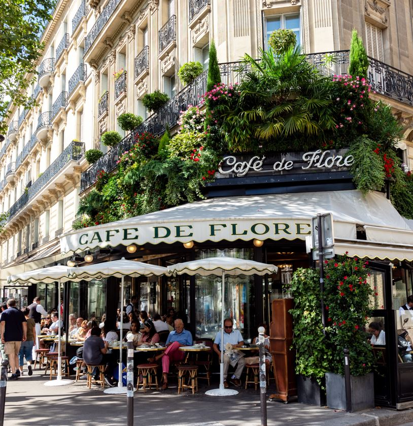 Cafe and Restaurant in Paris France
