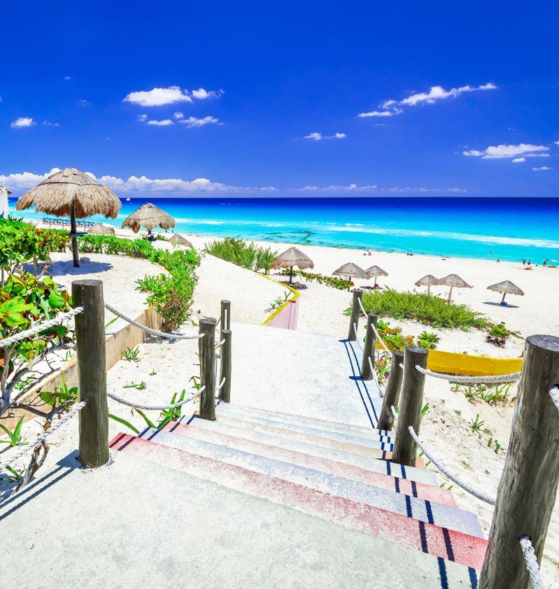 Caribbean beach in Cancun