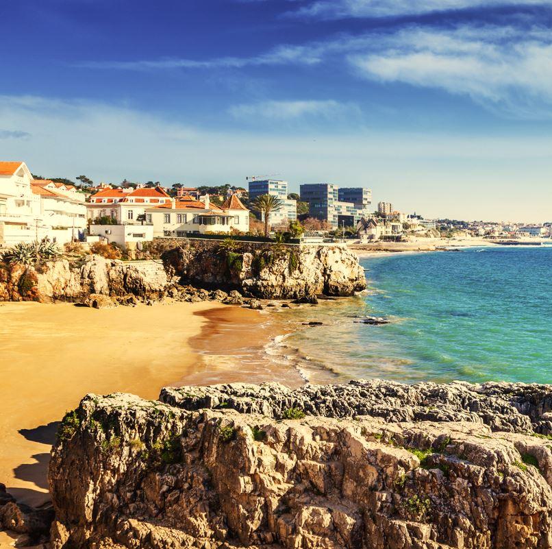 Cascais Lisbon beach and sea