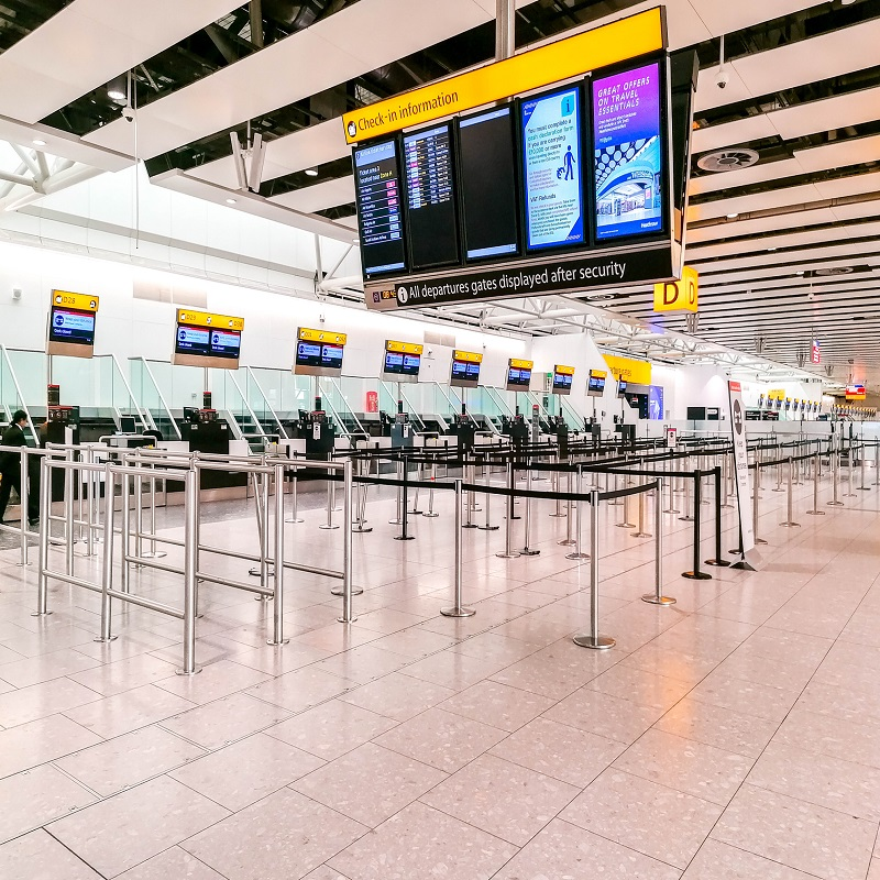 Empty Heathrow Airport During COVID-19