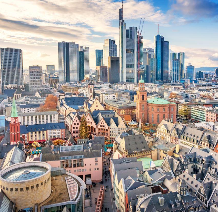 Skyline von Frankfurt Deutschland