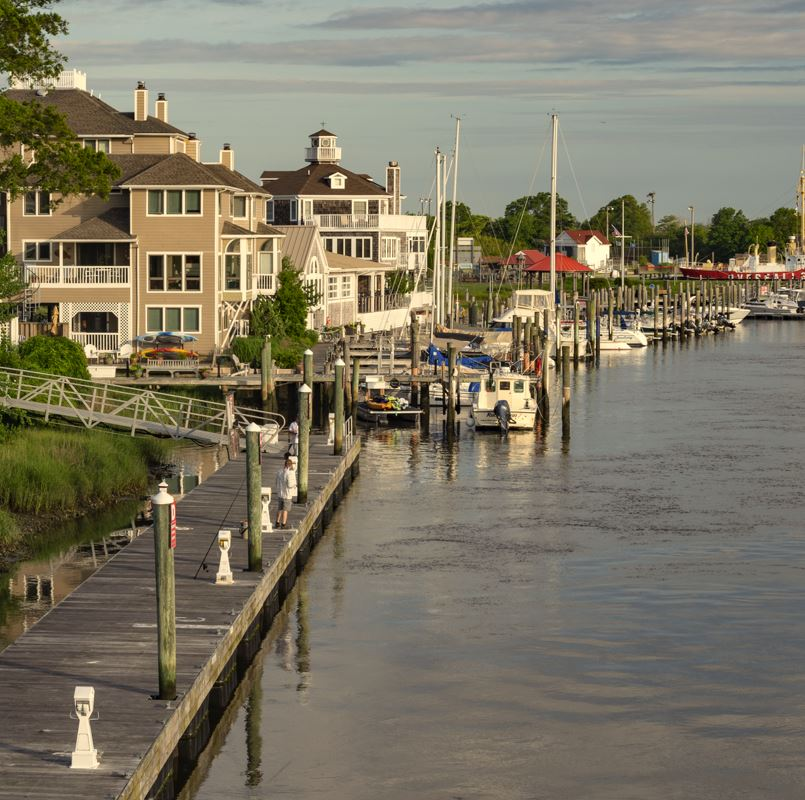 Lewes Delaware, boats and jetty