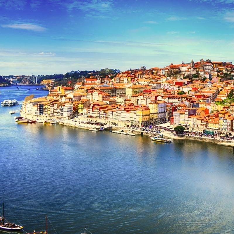 Lisbon city and river