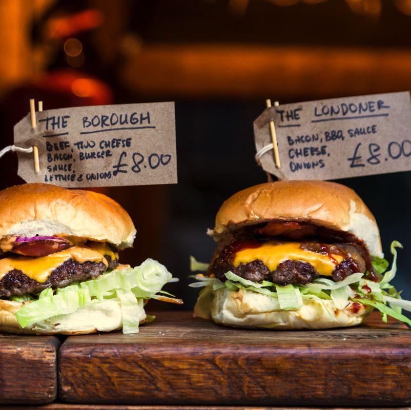 Burgers at Borough Market London