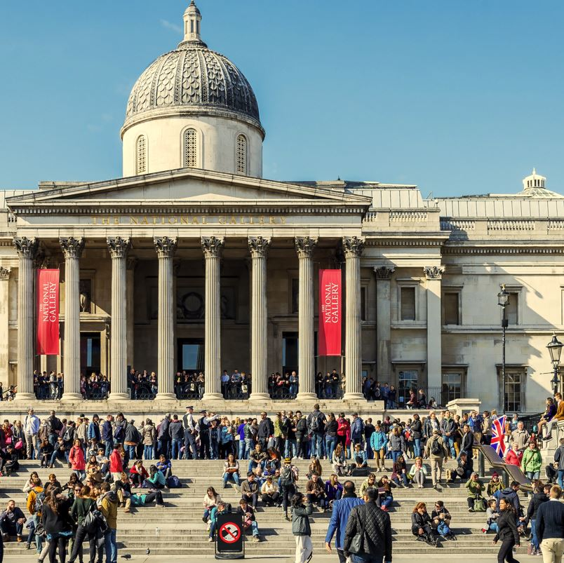 National Gallery London and visitors