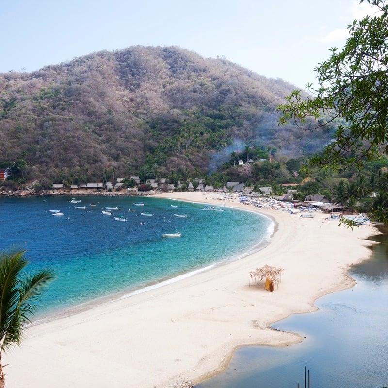 The small fishing village of Yelapa on the Bay of Banderas, near Puerto Vallarta, Mexico.