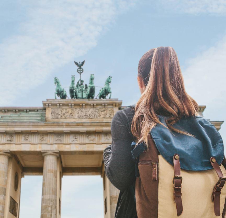 Tourist in Berlin, Deutschland