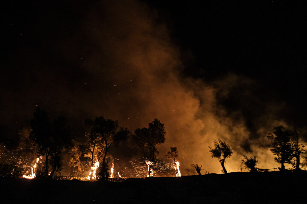 Tourists Evacuated As New Wildfires Break Out On Greek Island