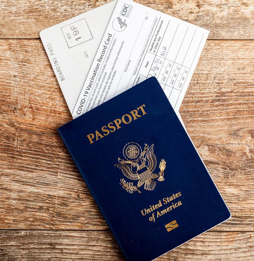 Vaccine card and US passport