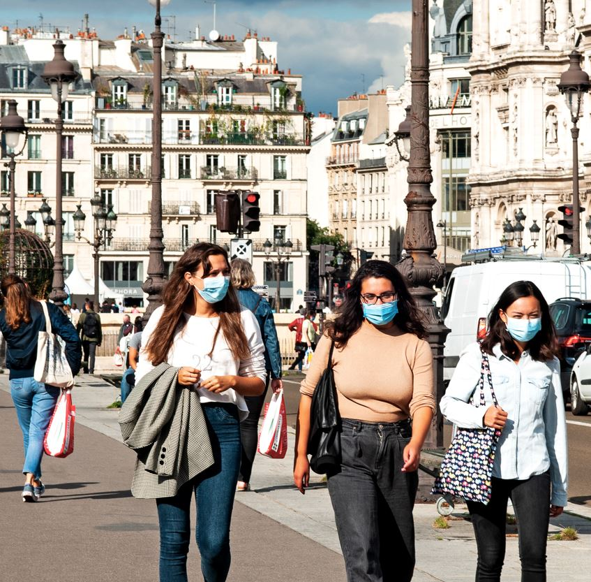 Women Wearing Masks in France