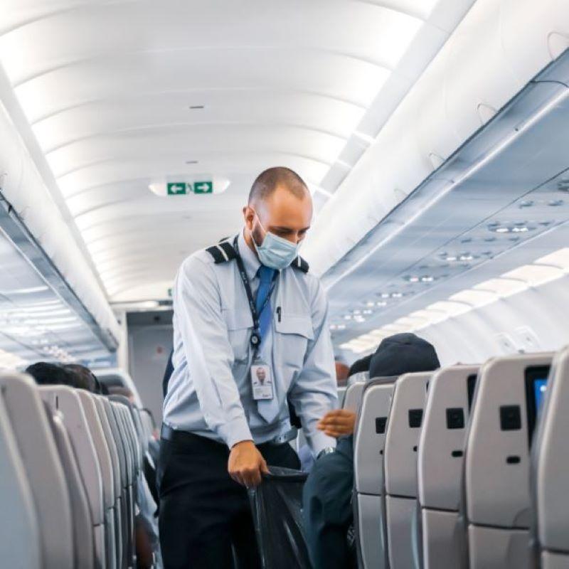 airline staff trash