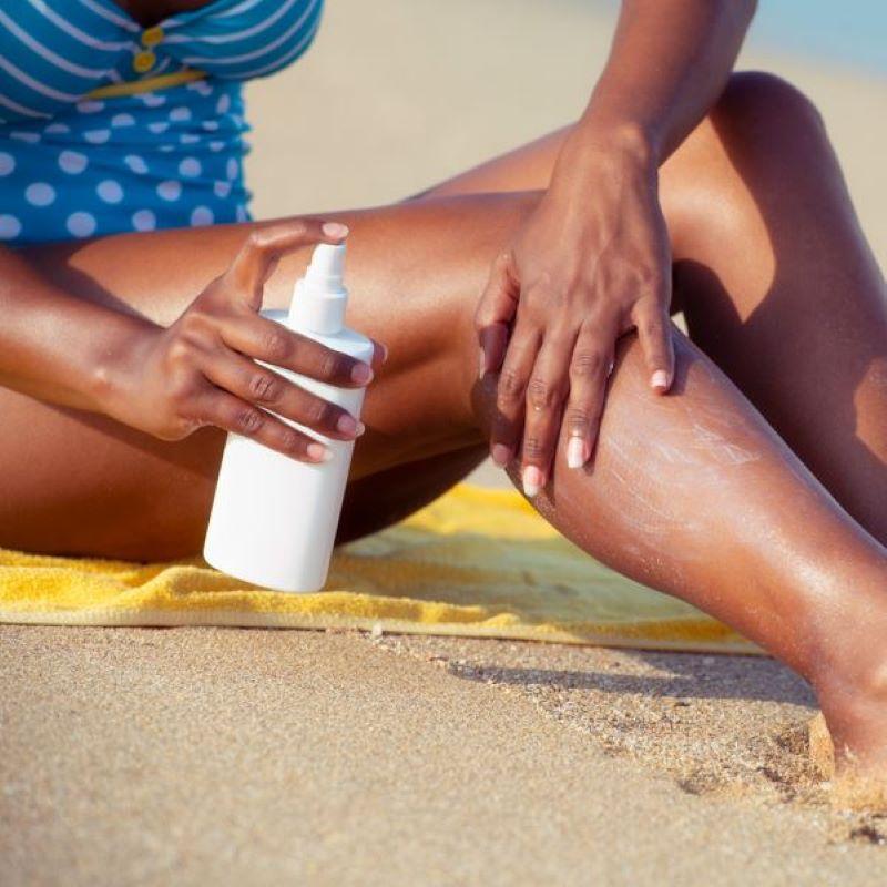 beach sunscreen woman
