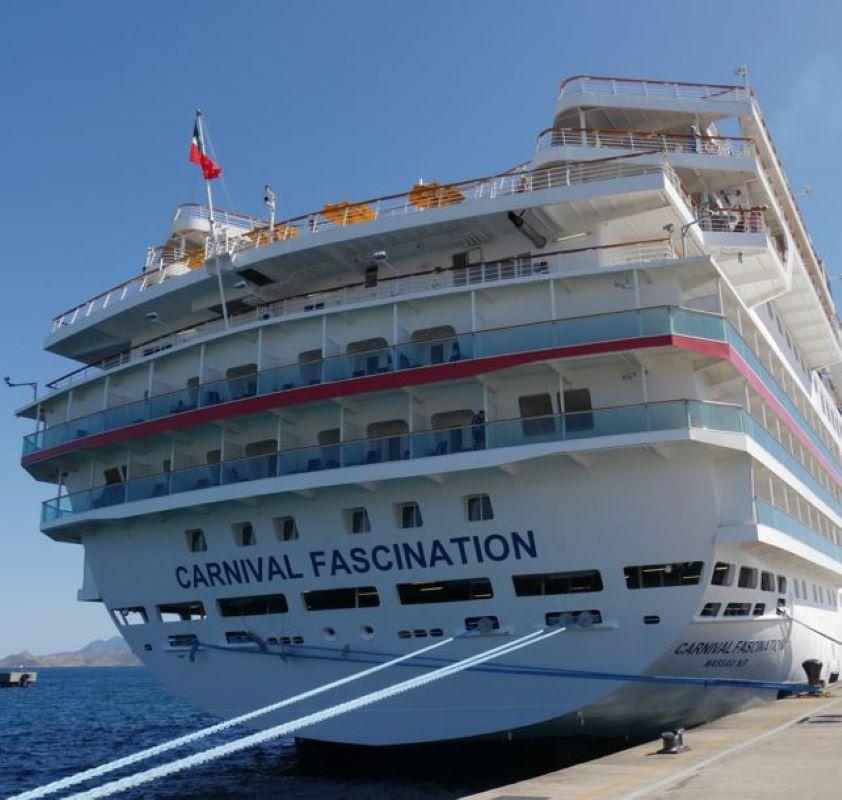 Carnival Fascination cruise ship at a docking station