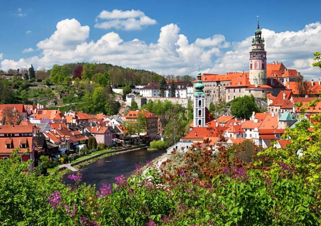 View of old town Cesky Krumlov