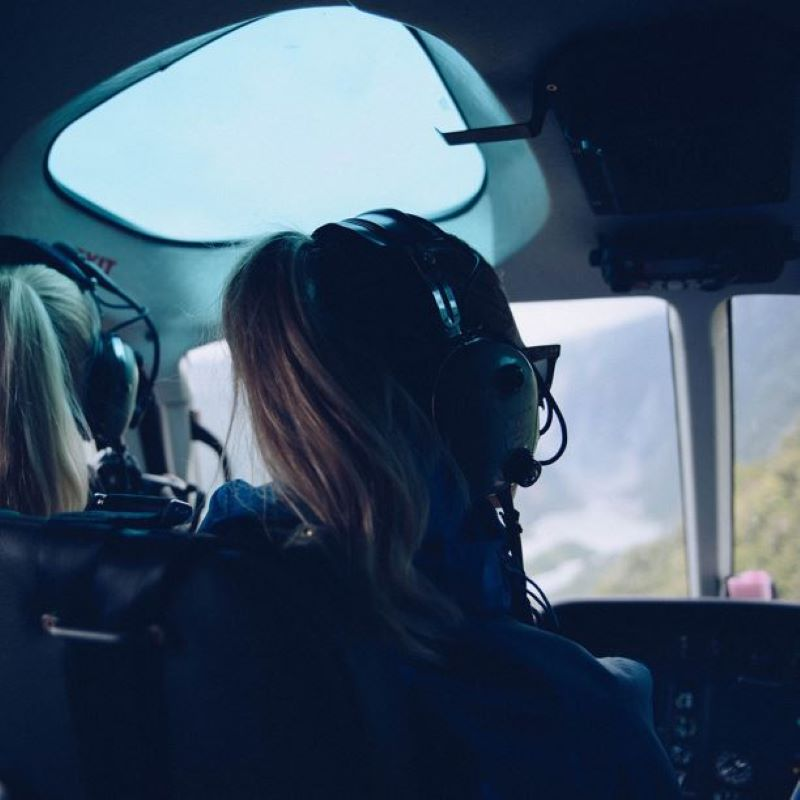 girl helicopter tour