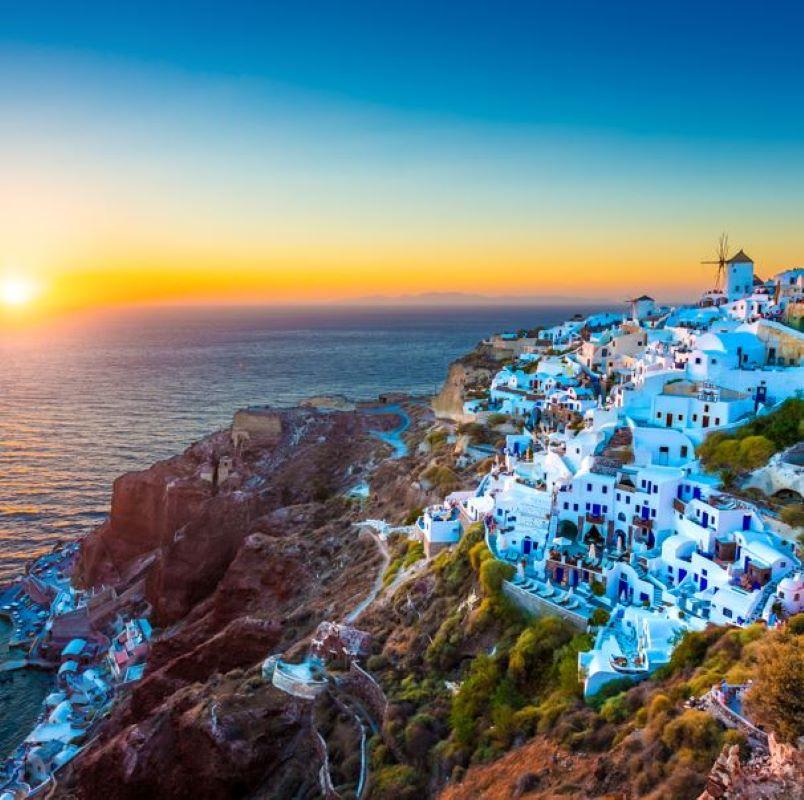 greece santorini village