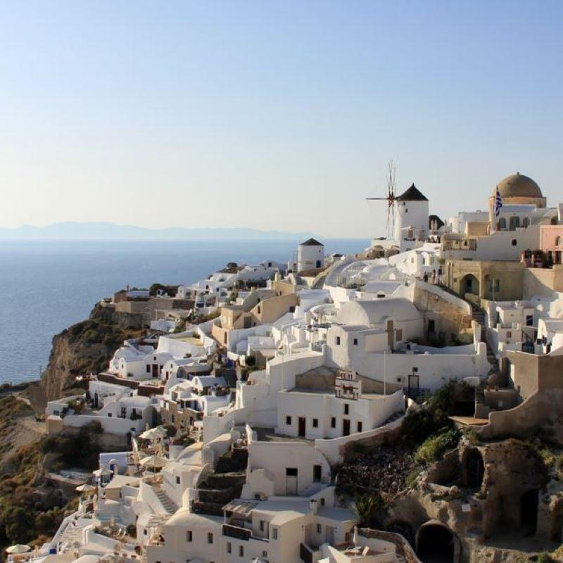 greek village coast