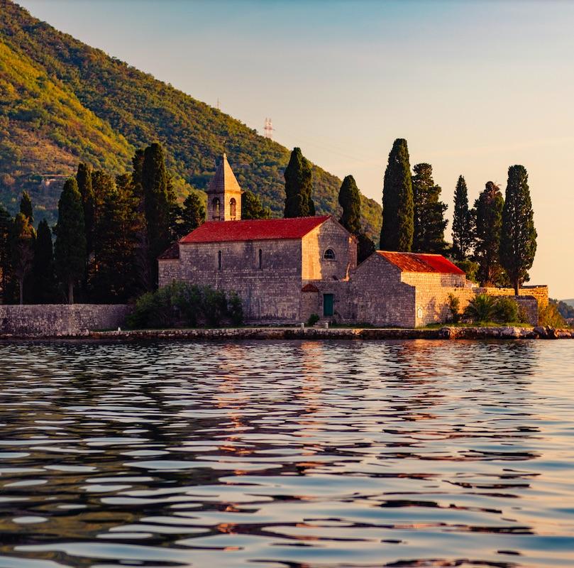 Bay of Kotor, Montenegro at sunset – UNESCO World Heritage Site