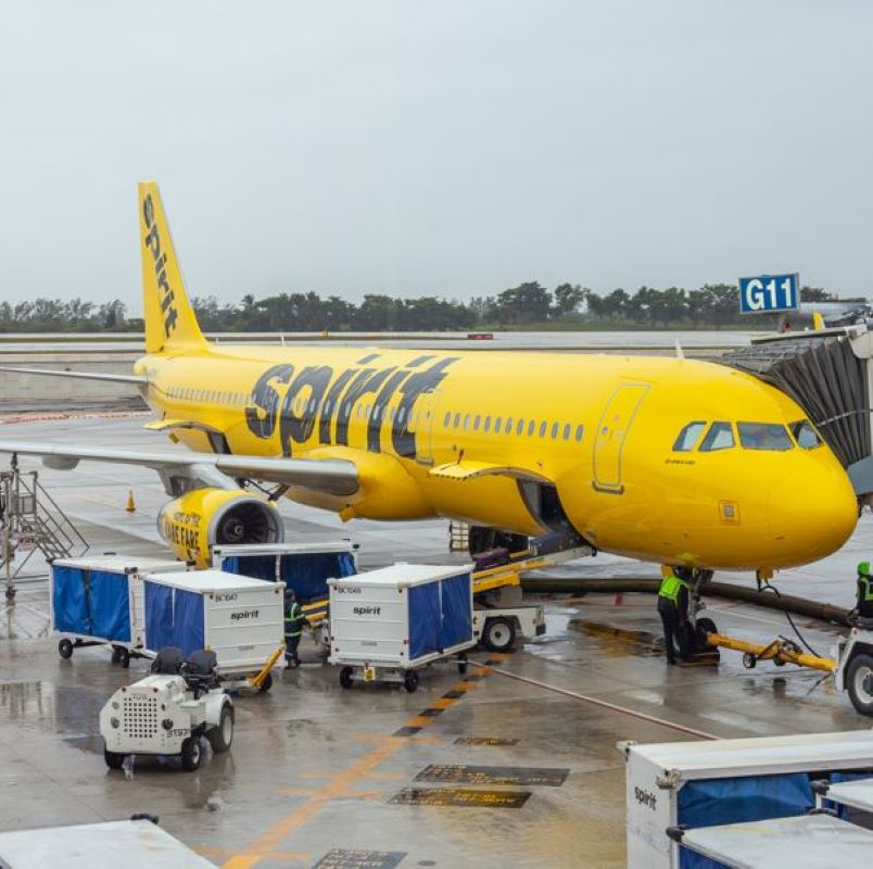 spirit airplane boarding