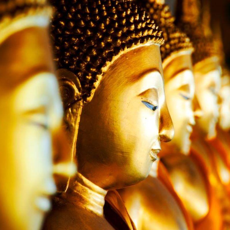 thailand wat arun buddha statues