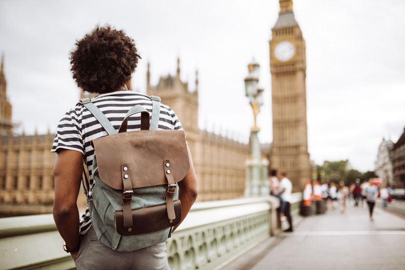solo backpacker in london