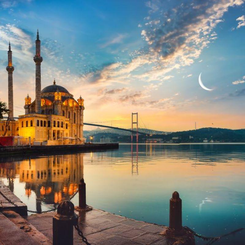 turkey mosque sunset