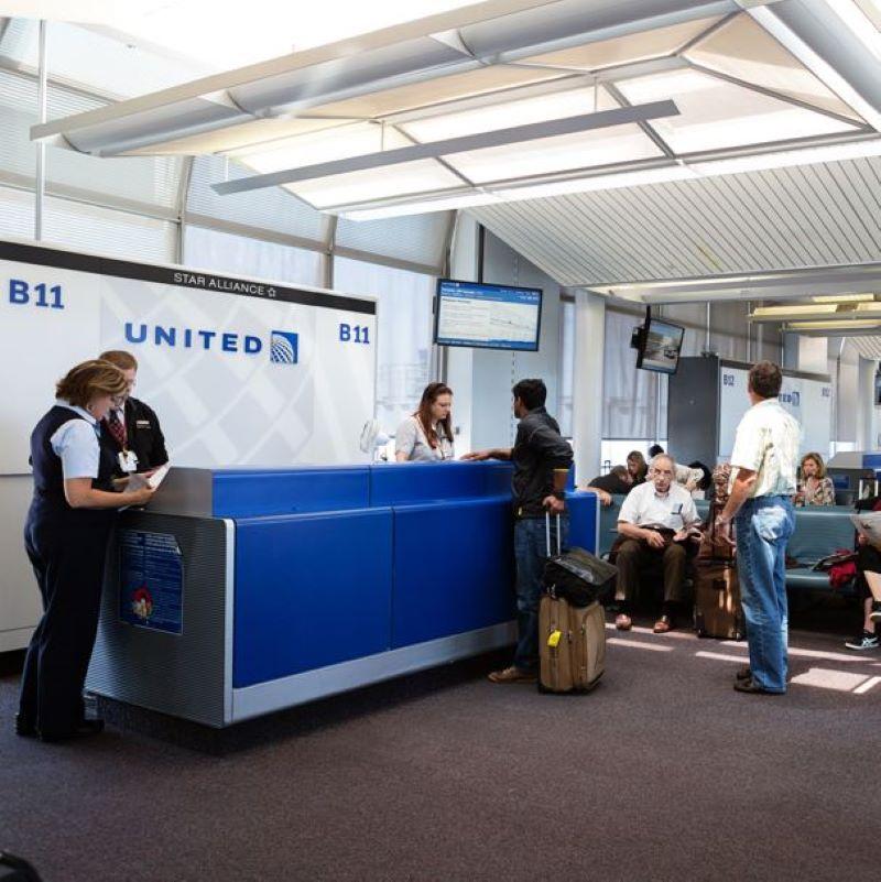 united boarding check in