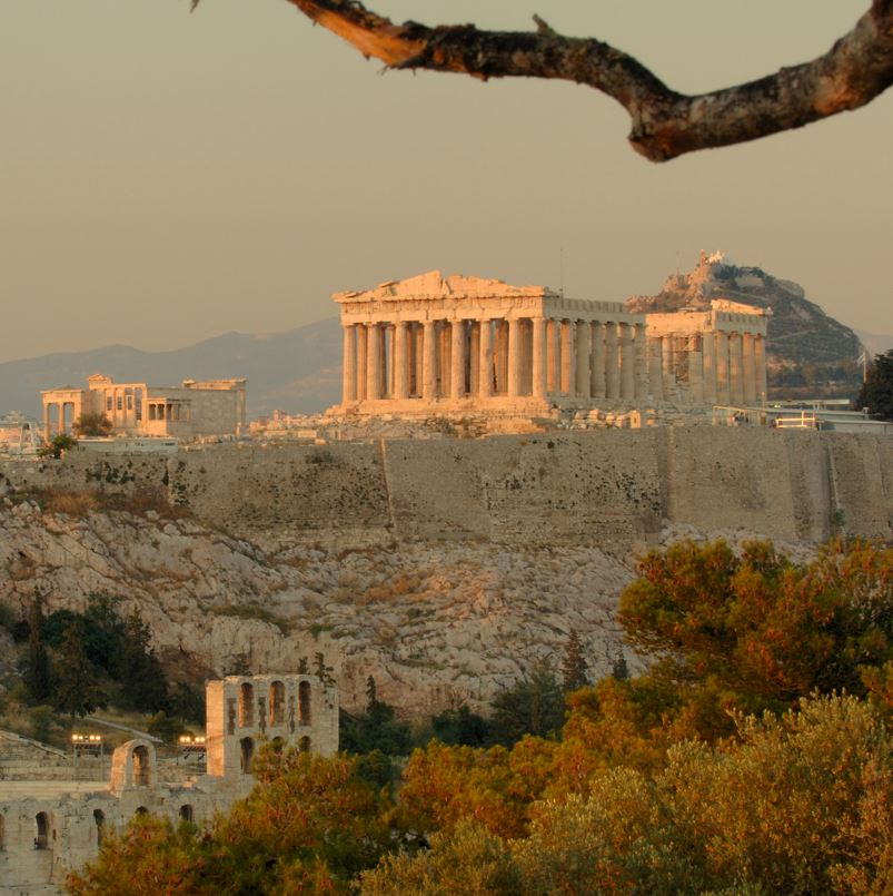 Acropolis Athens at sunset
