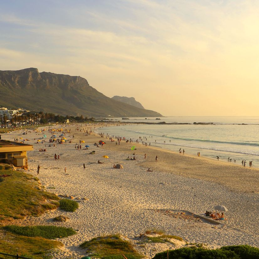 Camps Bay, Cape Town at sunset