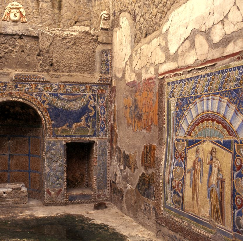 Herculaneum wall detail